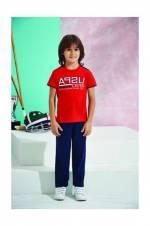 Kırmızı Us Polo Erkek Çocuk Pijama Takımı - 6138